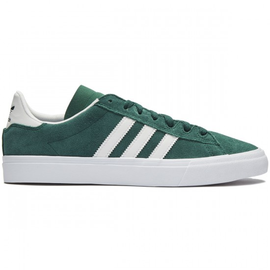 Adidas Campus Vulc II Shoes - Green/Green/White - 8.0