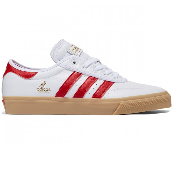 Adidas Adi-Ease Premiere Universal Shoes - White/Scarlet/Gold Metallic - 8.0