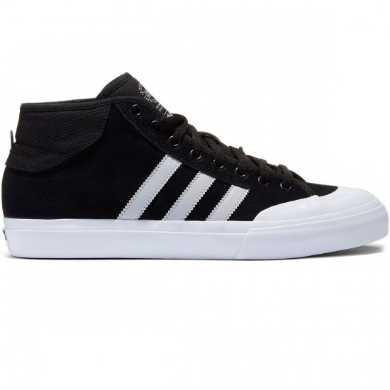 Adidas Matchcourt Mid Shoes - Black/Light Solid Grey/White - 7.0