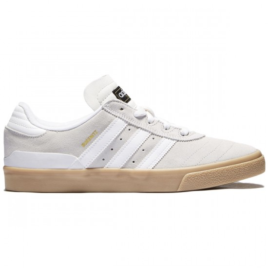 Adidas Busenitz Vulc Shoes - Crystal White/Crystal White/Gum - 7.0