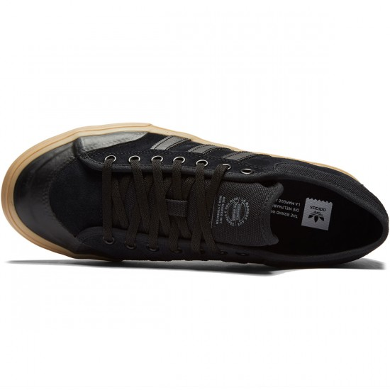 Adidas Matchcourt Shoes - Black/Black/Gum - 7.0