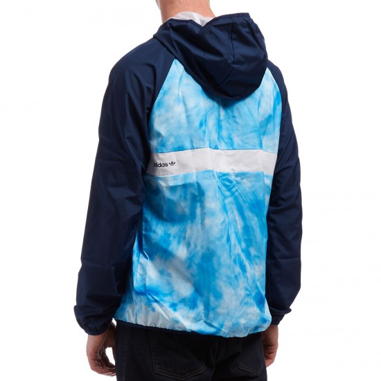 Adidas Sky Dye Windbreaker Jacket - Navy/Bluebird/Ice Green/White