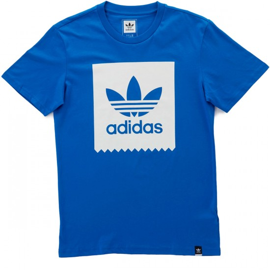 Adidas Blackbird Logo Fill T-Shirt - Bluebird/White