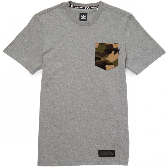 Adidas Camo Pocket T-Shirt - Core Heather