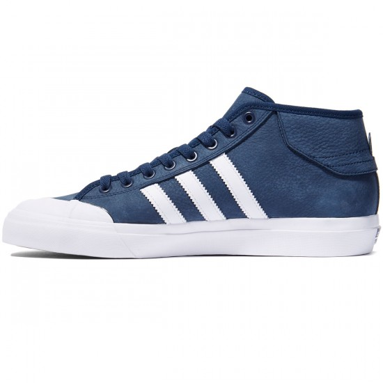 Adidas Matchcourt Mid Shoes - Navy/White/White - 8.0