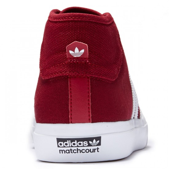 Adidas Matchcourt Mid Shoes - Collegiate Burgundy/White/White - 8.0