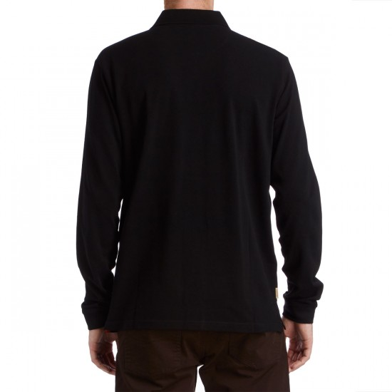 Fourstar Pirate Polo Long Sleeve Shirt - Black