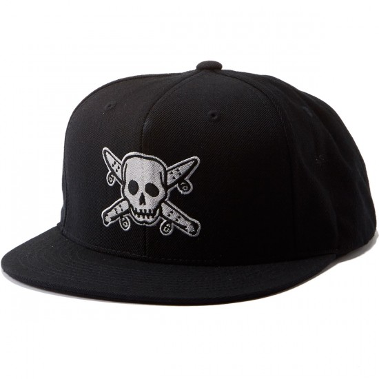Fourstar Street Pirate Snapback Fall 2016 Hat - Black
