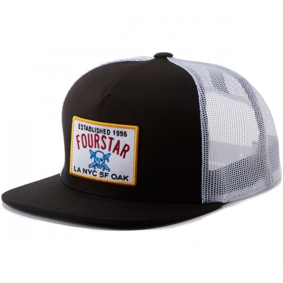 Fourstar Classic Trucker Patch Hat - Black