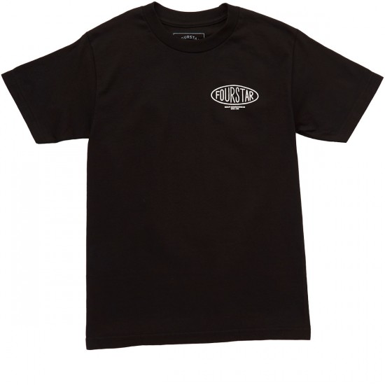 Fourstar Oval Type T-Shirt - Black