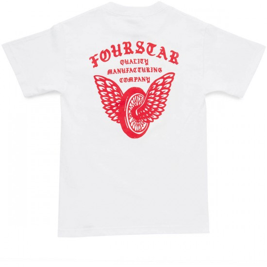 Fourstar Winged Wheel Pocket T-Shirt - White