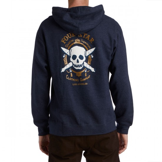 Fourstar Zig Zag Full Zip Hoodie - Navy Heather