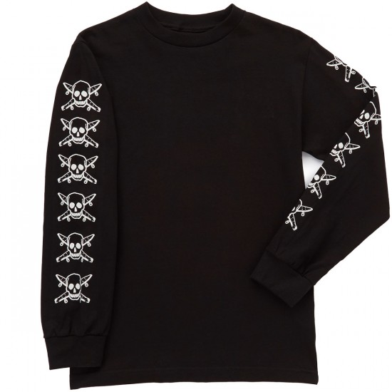 Fourstar Pirate Long Sleeve T-Shirt - Black