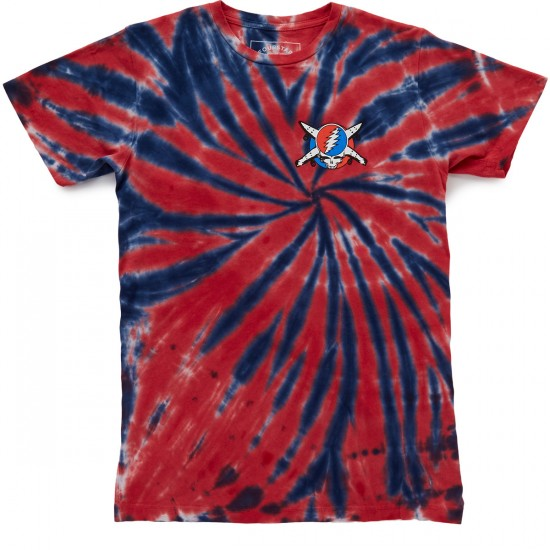 Fourstar Jerrys Pirate T-Shirt - Blue/Red Tie Dye
