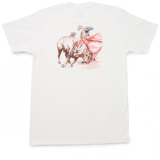 Chocolate Tradiciones Bull Fight T-Shirt - White
