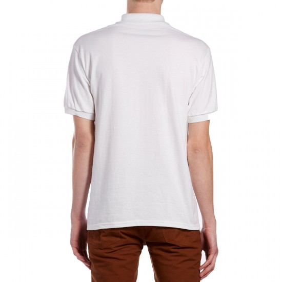 Chocolate Chunk Polo Shirt - White