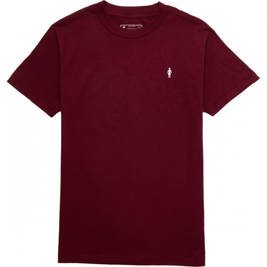 Girl Micro OG T-Shirt - Burgundy
