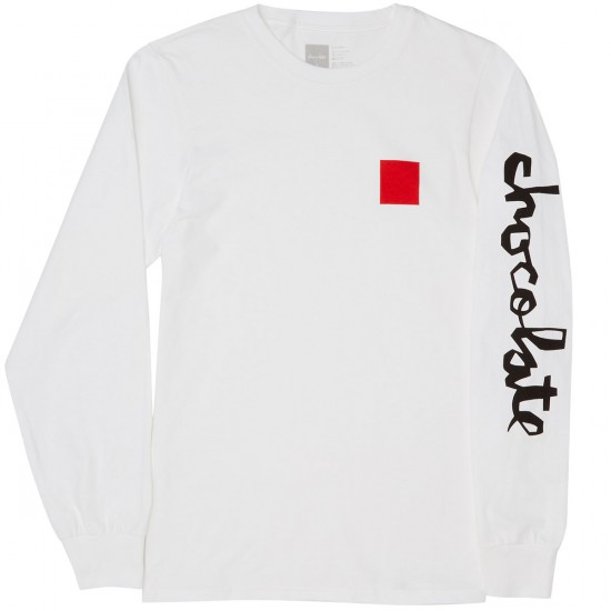 Chocolate Chunk & Square Long Sleeve T-Shirt - White