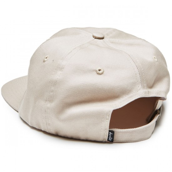 Chocolate 6 Panel Chunk Strapback Hat - Grey