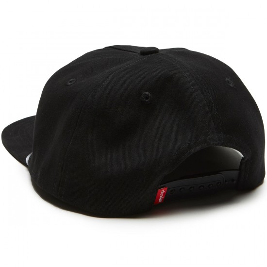 Chocolate Joe 5 Panel Snapback Hat - Black
