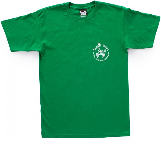 Hustle Trees Elevated Heads T-Shirt - Kelly Green