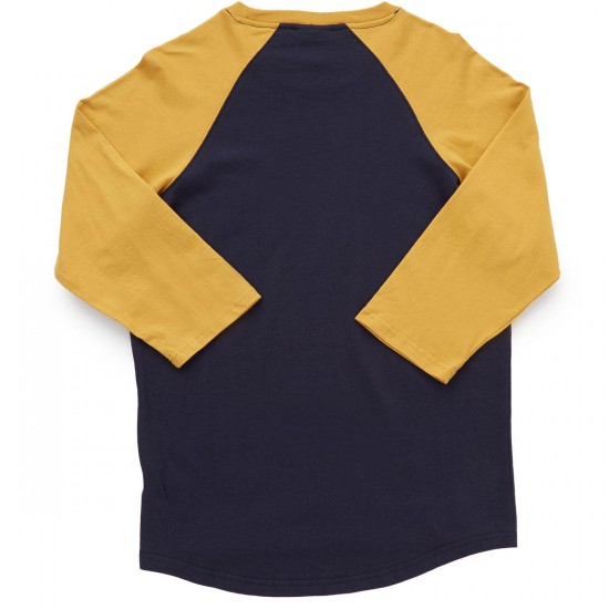 LRG Surplus Co 3/4 Sleeve Raglan T-Shirt - Navy