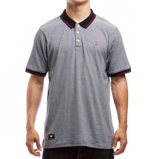 LRG Resolution Striped Polo Shirt - Black