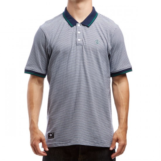LRG Resolution Striped Polo Shirt - Navy