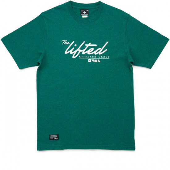 LRG Scripted Research T-Shirt - Forest Heather