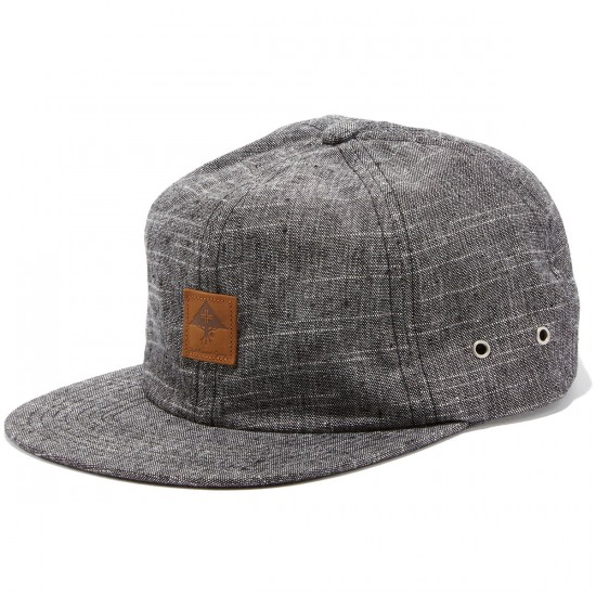 LRG Against Grain Strapback Hat - Black