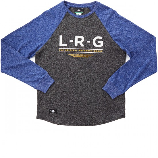 LRG Standard Issue Long Sleeve Raglan T-Shirt - Black Heather