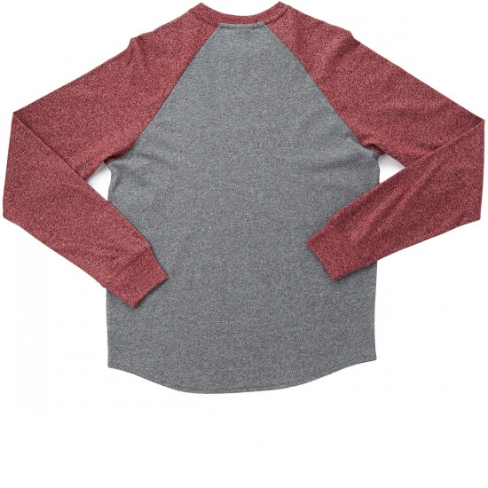 LRG Standard Issue Long Sleeve Raglan T-Shirt - Charcoal Heather