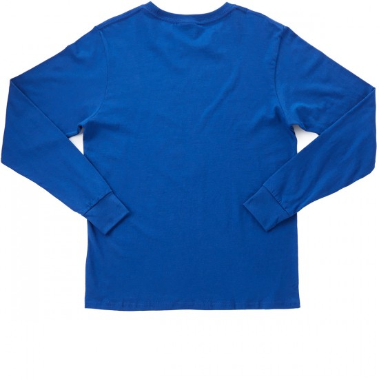 LRG Night Vision Lion Long Sleeve T-Shirt - Prussian Blue