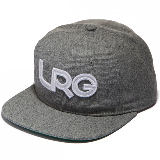 LRG Branded Snapback Hat - Ash Heather