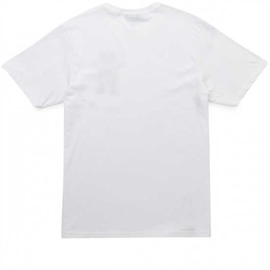 LRG X Grizzly Boss Bear Pocket T-Shirt - White