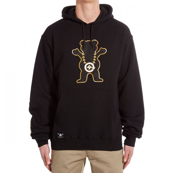 LRG X Grizzly Boss Bear Pullover Hoodie - Black