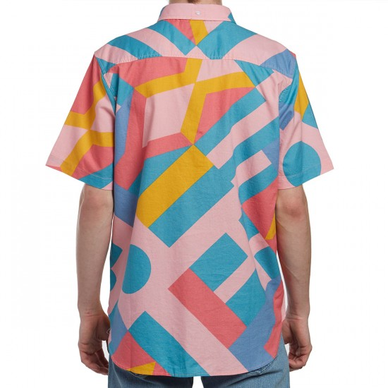 LRG Spectra Short Sleeve Woven Shirt - Light Pink
