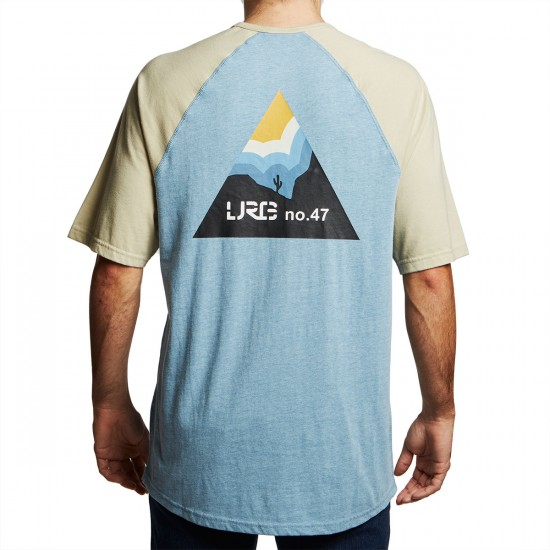 LRG Explore Baseball Raglan Shirt - Venice Blue Heather