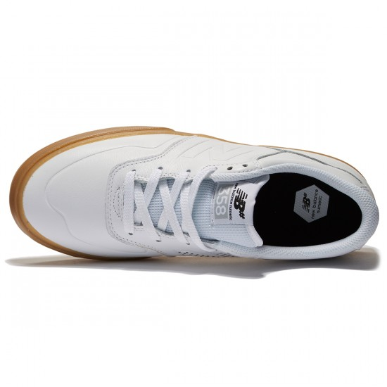New Balance Arto 358 Shoes - White/Gum - 8.5