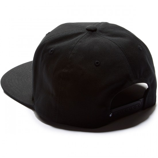 The Hundreds Slant Tail Snapback Hat - Black