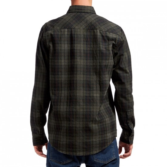The Hundreds Yuma Long Sleeve Woven Shirt - Forest