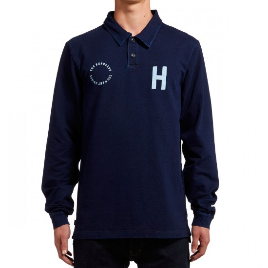 The Hundreds Quin Long Sleeve Polo Shirt - Navy