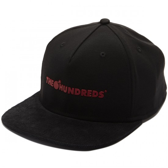 The Hundreds Bar Logo Snapback Hat - Black
