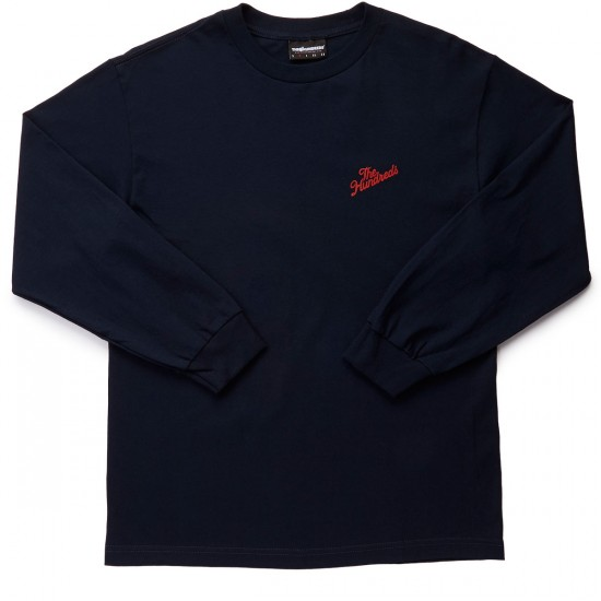 The Hundreds Slant Crest Long Sleeve T-Shirt - Navy