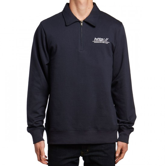 The Hundreds Woodson Polo Sweatshirt - Navy