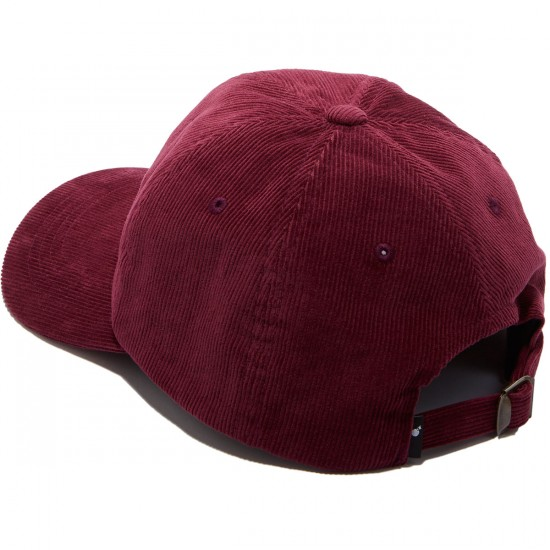 The Hundreds Plain Strapback Hat - Burgundy