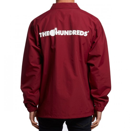The Hundreds Bar Coaches Jacket - Red