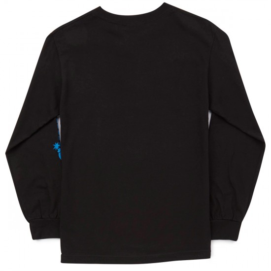 The Hundreds Flag Logo Long Sleeve T-Shirt - Black