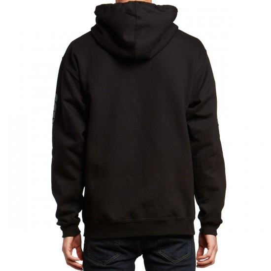 The Hundreds Rich Flag Zip Up Hoodie - Black
