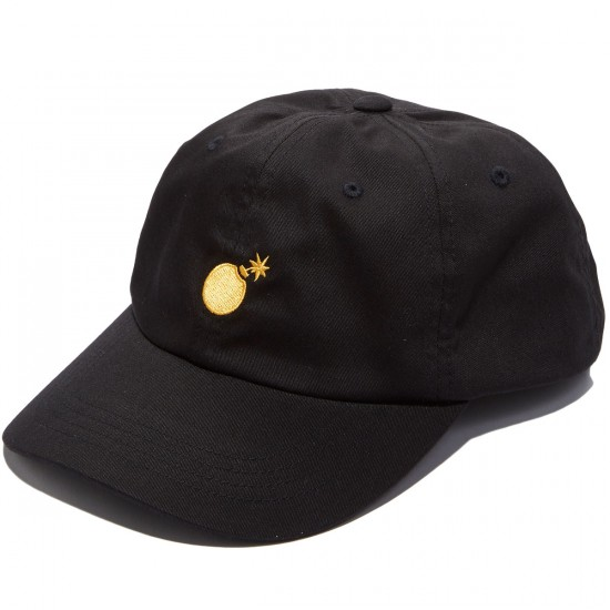 The Hundreds Solid Bomb Strapback Hat - Black